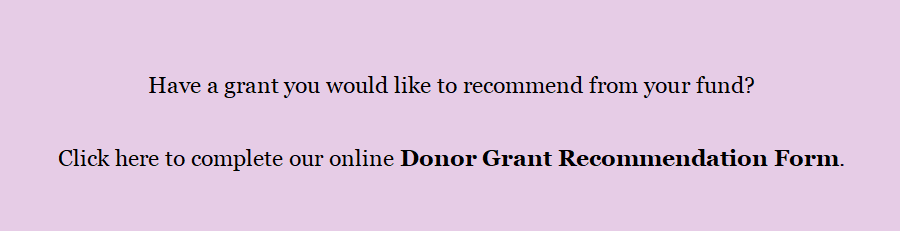 Donor Grant Recommendation Form