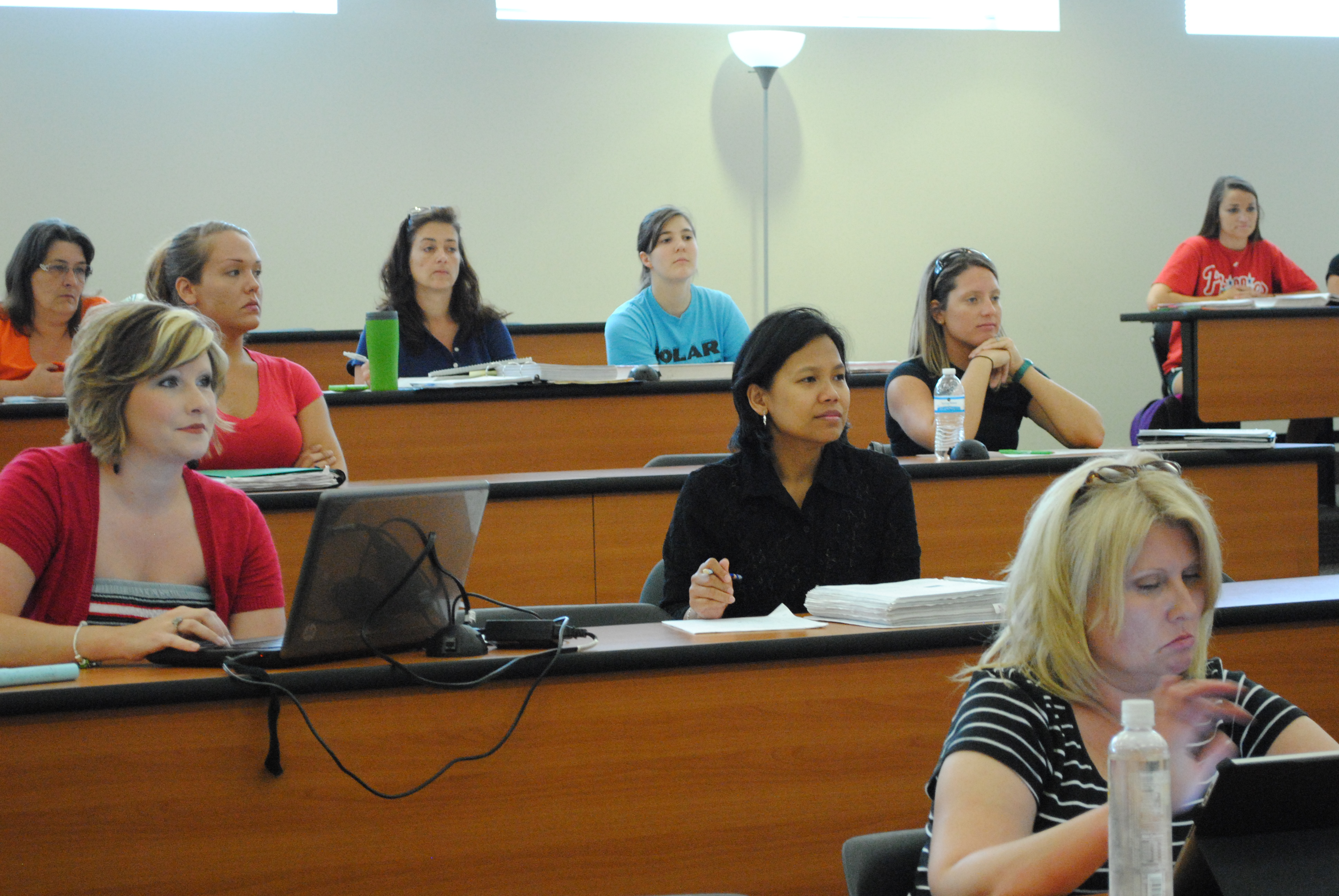 Students in class at WGTC